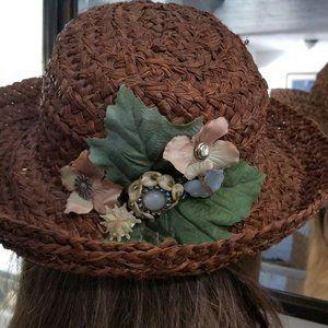 VINTAGE ART JEWELRY HAT